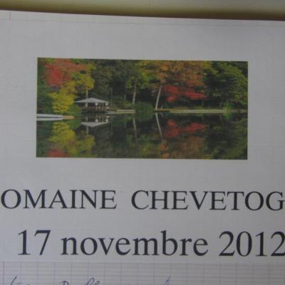 Marche au domaine de Chevetogne du 17 novembre 2012
