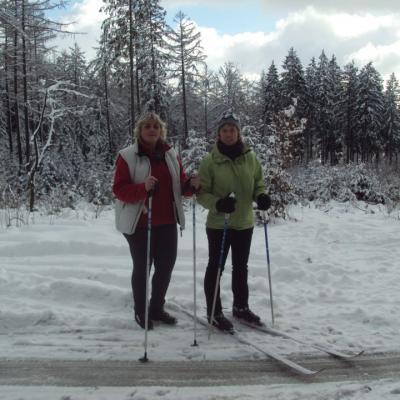 2 Sabots font du ski