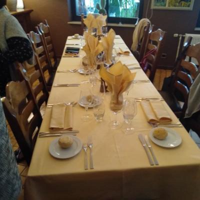 Diner du club à Paliseul le 21 octobre